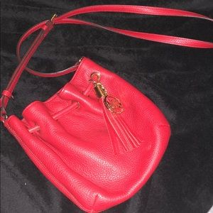 Michael Kors red cross-body purse, must go ASAP.